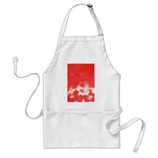 Red Rose Petals Painting Art Aprons