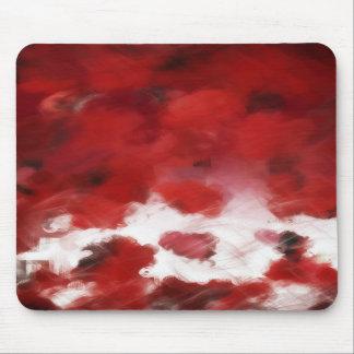 Red Rose Petals Painting Art Mousepad
