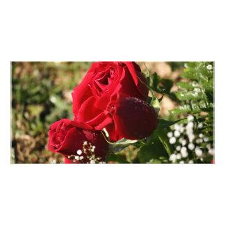 RED ROSE CUSTOM PHOTO CARD
