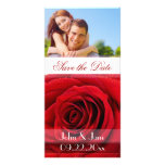 "Red Rose  /photo  ""Save the Date"" Photo Card Template"