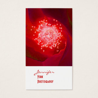 Red Rose photography business cards