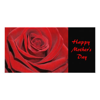 Red rose - photomap personalized photo card