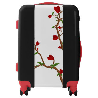 Red Rose Plant Luggage