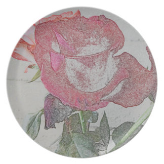 Red Rose Plate