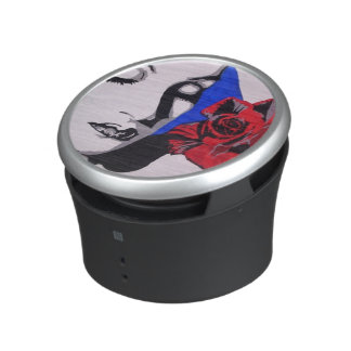 Red Rose Pop! painting on a Bumpster Speakers Bluetooth Speaker