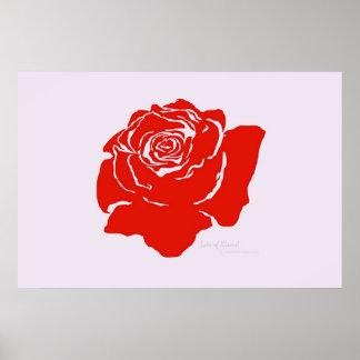 Red Rose Print
