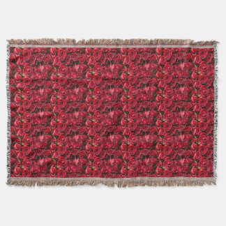 Red rose Print throw blanet