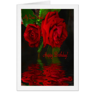 Red Rose Reflected - H B dear Friend Greeting Card