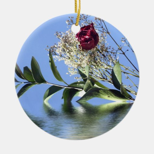 Red Rose & Reflection Ornament