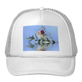 Red Rose & Reflection Mesh Hats
