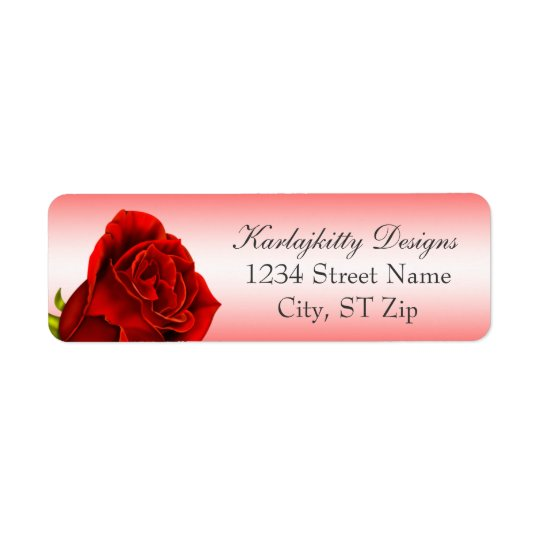 Red Rose Return Labels