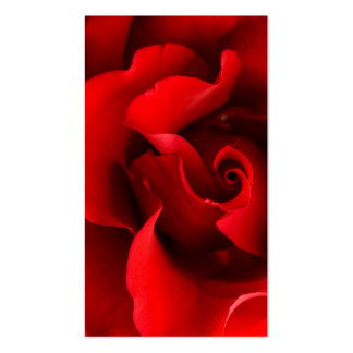 Red Rose - Roses Customized Template Pack Of Standard Business Cards