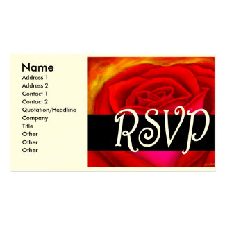 Red Rose RSVP Painting Art - Multi Double-Sided Standard Business Cards (Pack Of 100)