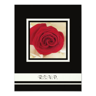 Red Rose RSVP Wedding Invitation