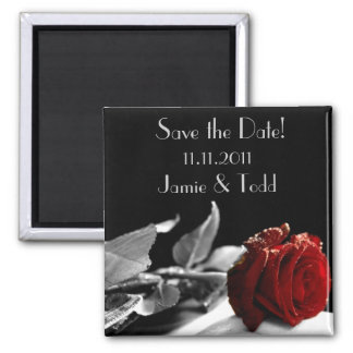 Red Rose Save the Date Refrigerator Magnets