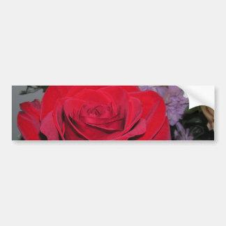 Red Rose & Silk Flowers CricketDiane bumper sticke Bumper Sticker