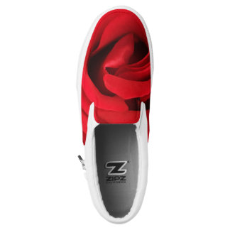 Red Rose Slip-On Shoes