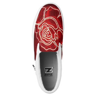 red rose slip on shoes