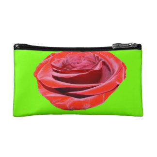 red rose Small Cosmetic  Bag