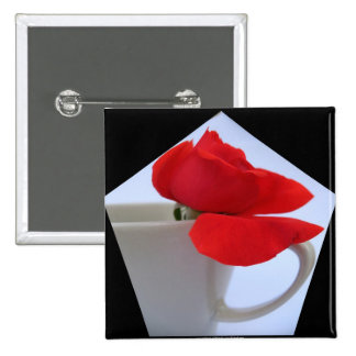 Red Rose square button