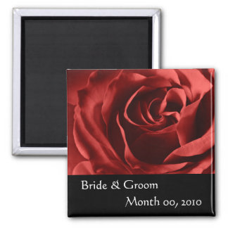 Red Rose Square Magnet