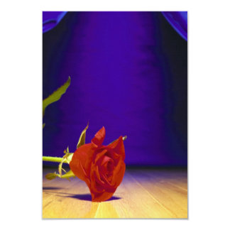 Red Rose, Stage & Curtains 9 Cm X 13 Cm Invitation Card