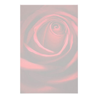 Red Rose Stationary Personalized Stationery