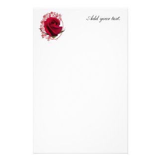 Red Rose Stationery