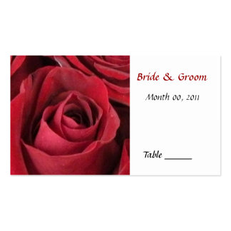 Red Rose Table Place Card Pack Of Standard Business Cards