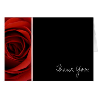 Red Rose - Thank You Note Card