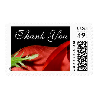 Red Rose Thank You Event And Wedding Postage