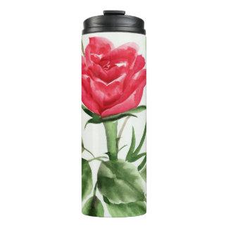Red Rose Thermal Tumbler
