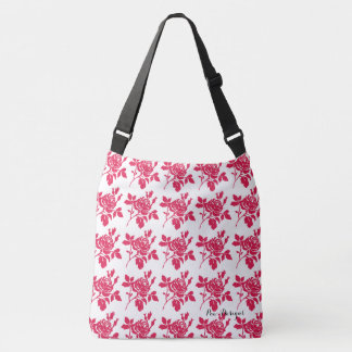 Red-Rose-Toile-Multi Choices Crossbody Bag