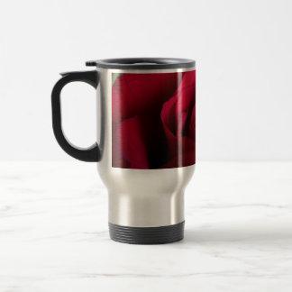 Red Rose Travel Mug Beautiful Red Rose Mugs