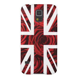Red Rose Union Jack British(UK) Flag Galaxy S5 Cases