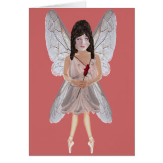 Red Rose Valentine Fairy Note Card