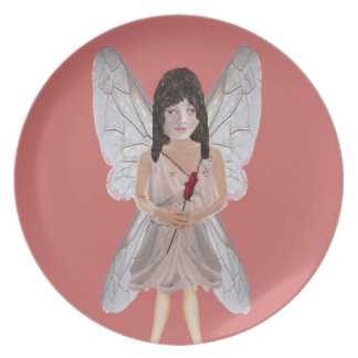 Red Rose Valentine Fairy Plates