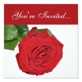 Red Rose | Valentines Day Party Invitation