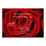 Red Rose Valentine's Day Wedding RSVP Cards 9 Cm X 13 Cm Invitation Card