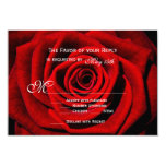Red Rose Valentine's Day Wedding RSVP Cards 9 Cm X 13 Cm Invitation Card