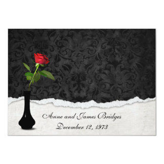 Red Rose Vow Renewal Invite
