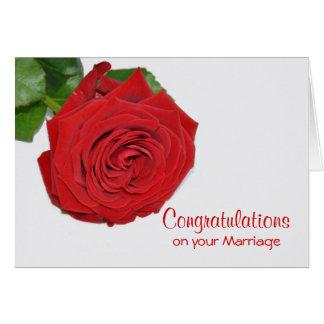 Red Rose Wedding Greeting Card