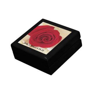 Red Rose Wedding Keepsake Box