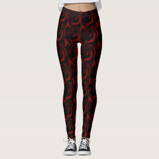 Red Rose wedding Leggings