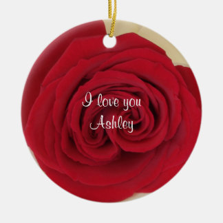 Red Rose Wedding Proposal Idea Ornament