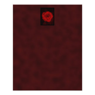 Red Rose. With Black and Deep Red. 11.5 Cm X 14 Cm Flyer