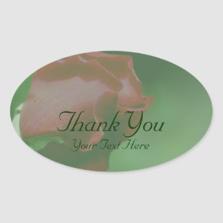 Red Rosebud Flower Thank You Sticker
