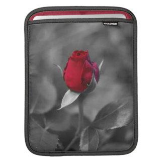 Red Rosebud iPad Sleeve
