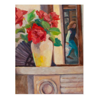 Red Roses 1986 Postcard