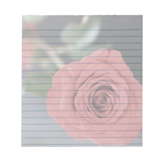 "Red Roses  5.5x6"" notepad"